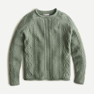 KIDS Boys' cable-knit rollneck sweater
