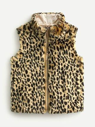 KIDS Girls' faux-fur vest