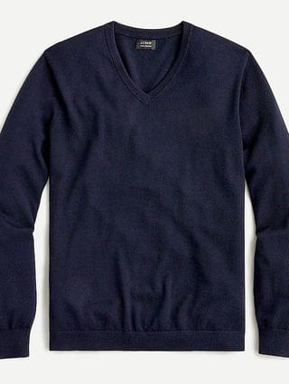 MEN Tall washable merino wool V-neck sweater