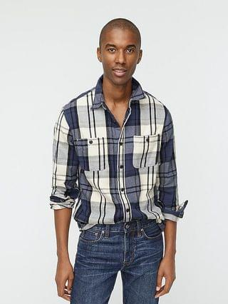 MEN Midweight flannel shirt in plaid