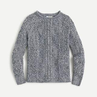 KIDS Kids' cotton cable-knit rollneck sweater
