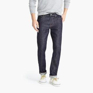 MEN 484 Slim-fit jean in stretch dark worn in Japanese denim