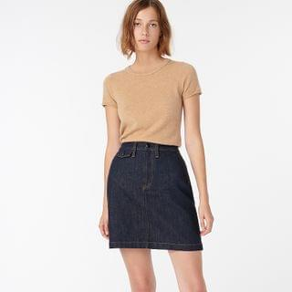 WOMEN Denim mini skirt in stay navy wash