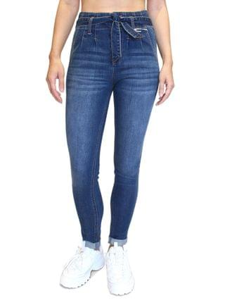 WOMEN Juniors' Double-Rolled Super High-Rise Skinny Jeans