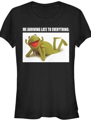 WOMEN Women's Muppets Late Kermit Short Sleeve T-shirt