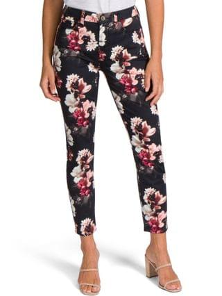 WOMEN Floral-Print Skinny Jeans