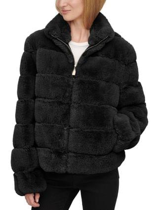 WOMEN Faux-Fur Zip-Front Coat