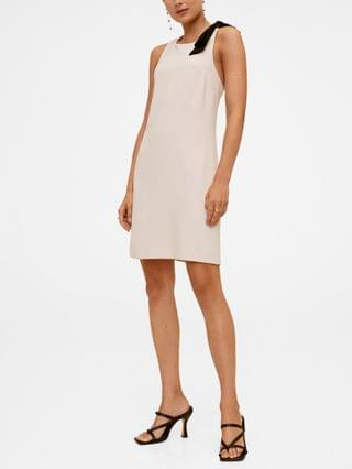 WOMEN Women's Contrast Detail Dress