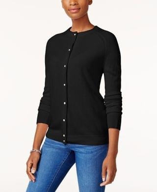 WOMEN Petite Pearl-Button Cardigan, Created for Macy's