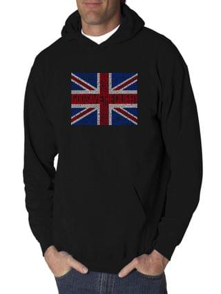 MEN Men's Word Art Hooded Sweatshirt - God Save The Queen