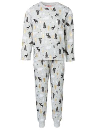 WOMEN Matching Kids Woodland-Print Family Pajama Set, Created for Macy's