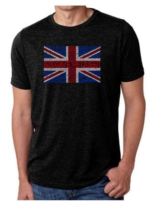 MEN Men's Premium Word Art God Save The Queen T-shirt