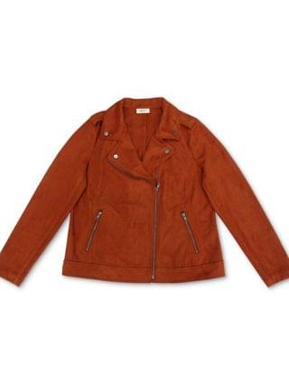 WOMEN Petite Faux-Suede Moto Jacket, Created for Macy's