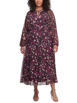 WOMEN Plus Size Carine Floral Midi Dress
