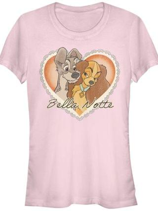 WOMEN Women's Lady and the Tramp Vintage-Like Valentine Short Sleeve T-shirt