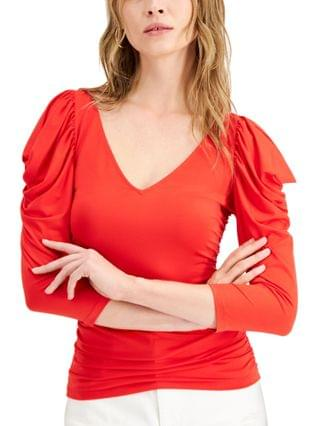 WOMEN Patricia Ruched Puff-Sleeve Top