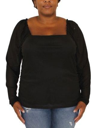 WOMEN Trendy Plus Size Square-Neck Top