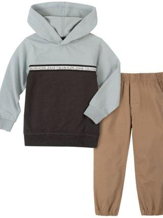 KIDS Jean Little Boys Hooded Fleece Pullover and Fleece Pant Set