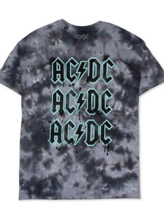 WOMEN Trendy Plus Size ACDC Tie-Dye T-Shirt