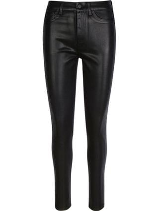 WOMEN Coated B(air) High Waist Skinny Jeans with Faux Pockets