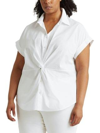 WOMEN Plus Size Twisted Front Top