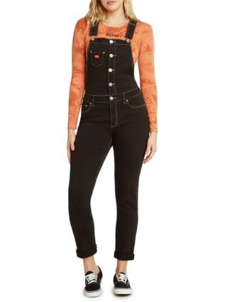 WOMEN Rolled Cuff Button Overalls