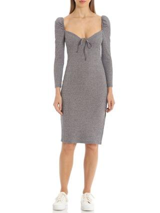 WOMEN Prairie Ribbed Bodycon Dress