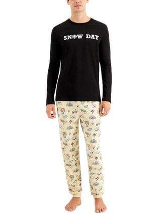 MEN Matching Men's Snow Day Family Pajama Set, Created for Macy's