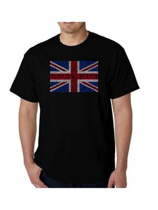 MEN Men's God Save The Queen Word Art T-Shirt