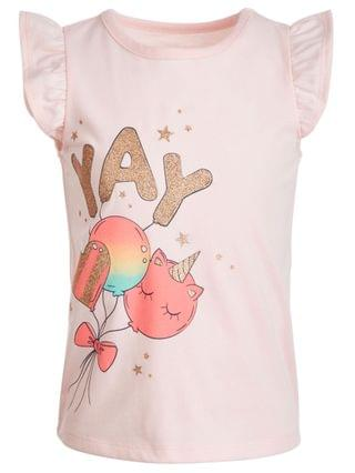 KIDS Little Girls Yay Balloons T-Shirt, Created for Macy's