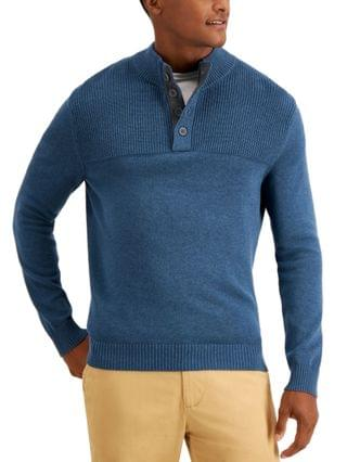 MEN Men's Ribbed Four-Button Sweater, Created for Macy's