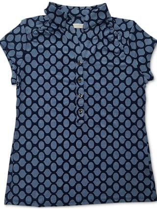 WOMEN Iconic Abstract-Print Polo Shirt, Created for Macy's