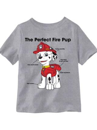 KIDS Little Boys The Perfect Fire Pup Marshall Graphic T-shirt