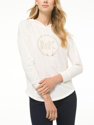 WOMEN Petite Drop-Shoulder Logo Hoodie