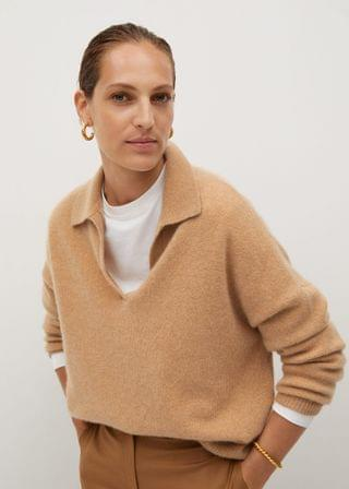 MEN Cashmere polo style sweater