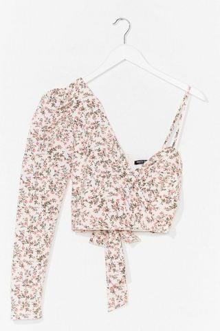 WOMEN Good to Grow One Shoulder Floral Top
