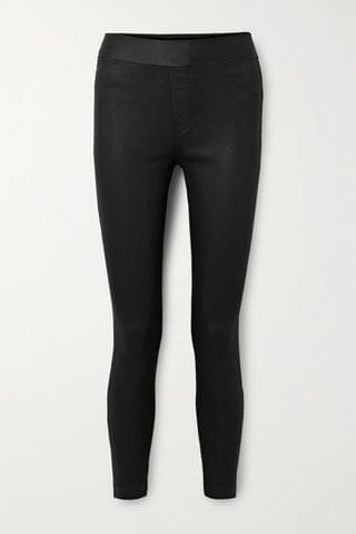 WOMEN J BRAND Dellah coated high-rise skinny jeans