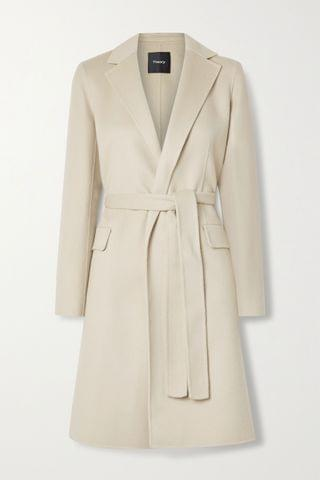 WOMEN THEORY New Divide belted wool and cashmere-blend coat