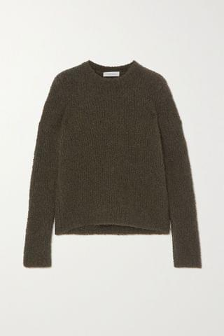 WOMEN GABRIELA HEARST Philippe cashmere and silk-blend boucl sweater
