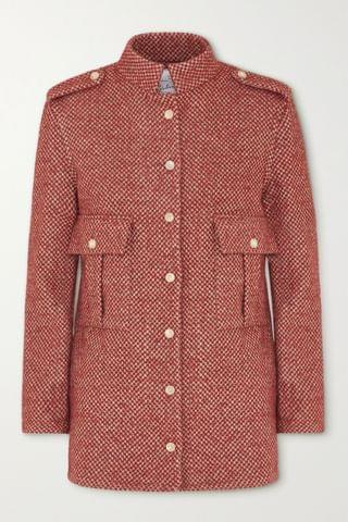 WOMEN GIULIVA HERITAGE The Officer checked wool-blend jacket