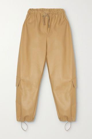 WOMEN FRANKIE SHOP Yoyo faux leather tapered pants