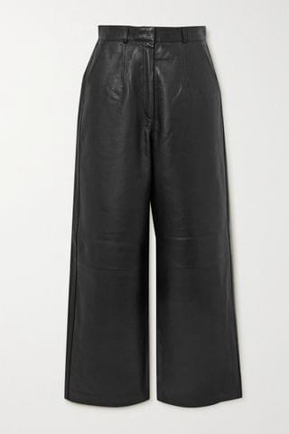 WOMEN ENVELOPE1976 + NET SUSTAIN Oslo leather wide-leg pants