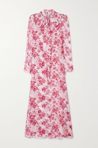 WOMEN THE VAMPIRE'S WIFE The Unconditional pussy-bow floral-print silk-chiffon maxi dress