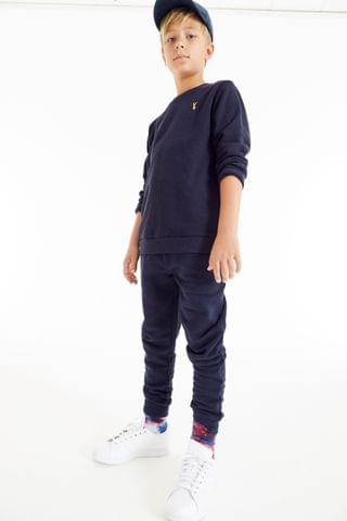 KIDS Navy Crew And Joggers Set (3-16yrs)