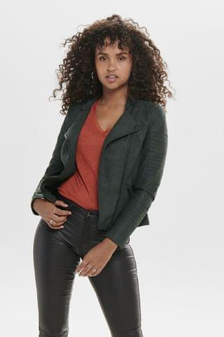 WOMEN Only Ava Faux Leather Jacket