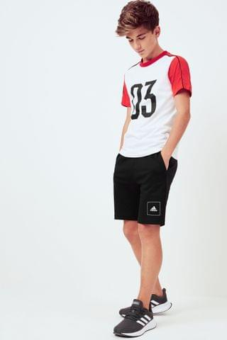 KIDS adidas White/Black/Red T-Shirt And Shorts Set