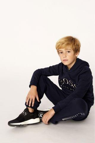 KIDS BOSS Navy Logo Tracksuit Bottoms