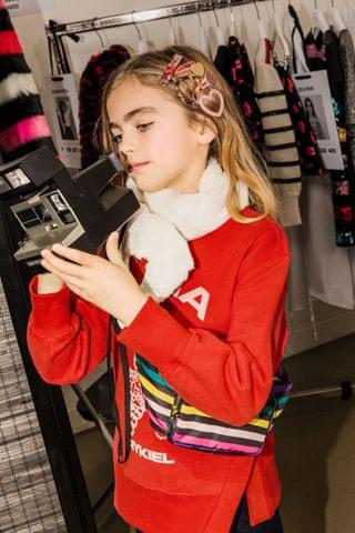 KIDS Sonia Rykiel Red Tiger Logo Sweatshirt