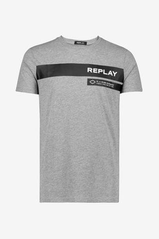 MEN Replay Print Logo T-Shirt