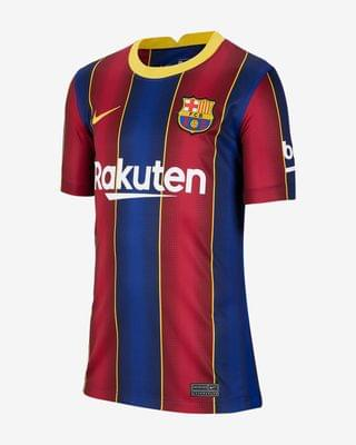 KIDS Big Kids' Soccer Jersey FC Barcelona 2020/21 Stadium Home